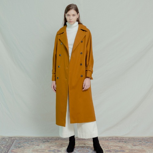 Kylie Cotton Trench Coat - Camel